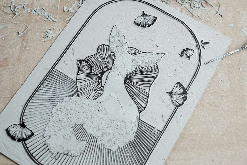 Astronut — Designatelier für Design & Illustration – Andreas Stößel | Andreas Stoessel | Blogpost Behind The Scenes – Lino Print Growth