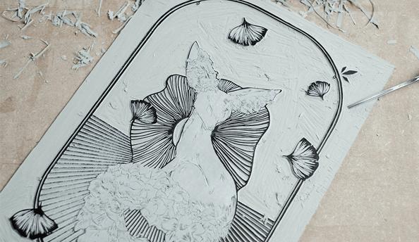Behind the Scenes – #001 — Lino Printing