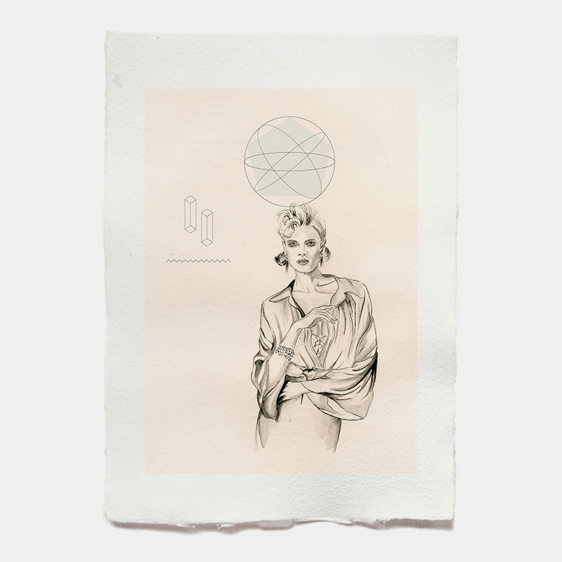 Astronut — Designatelier für Design & Illustration | Andreas Stoessel - Cosmic Goddess