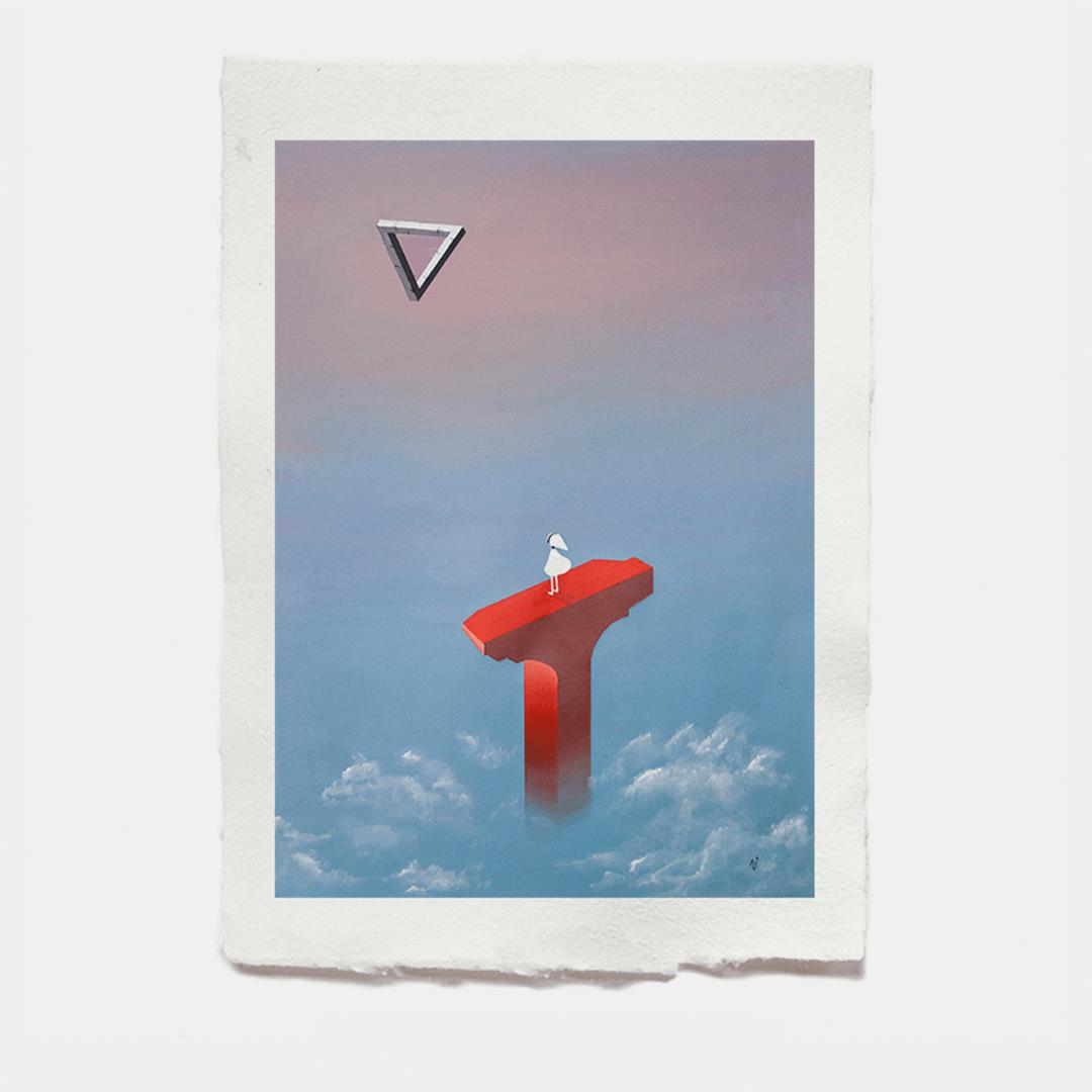 Astronut — Designatelier für Design & Illustration   Andreas Stoessel – Momument Valley Acrylic Painting