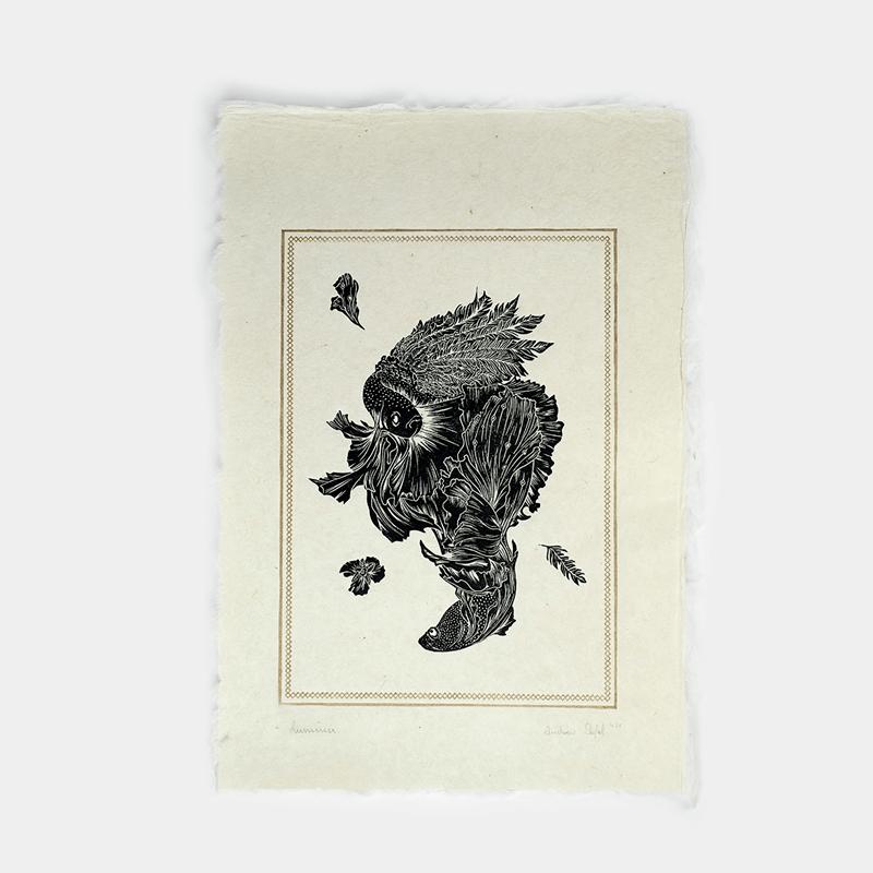 Astronut — Designatelier für Design & Illustration | Andreas Stoessel – Lino Print – Lumina