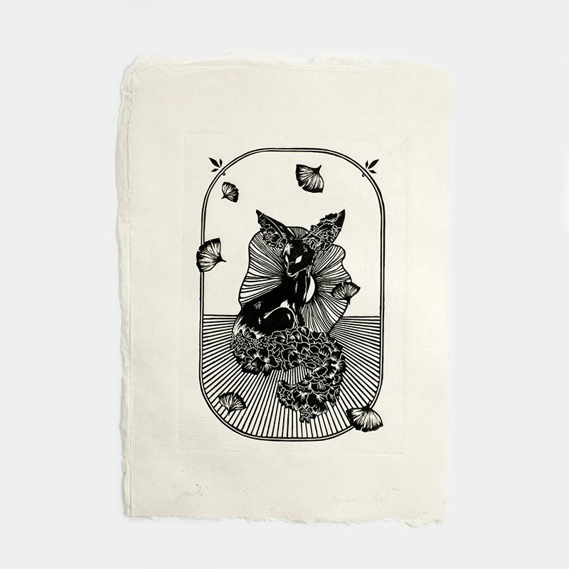 Astronut — Designatelier für Design & Illustration   Andreas Stoessel – Lino Print – Growth