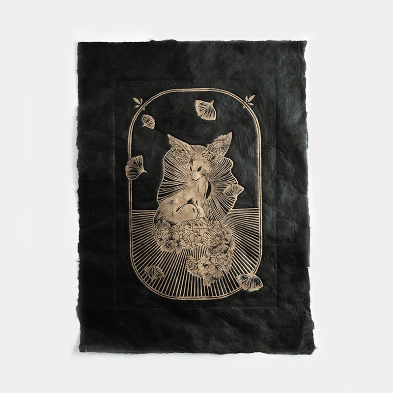 Astronut — Designatelier für Design & Illustration | Andreas Stoessel – Lino Print – Growth